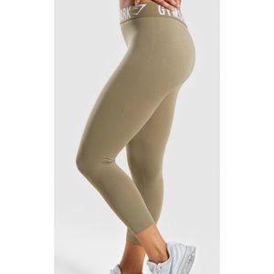 Gymshark Khaki Capri Leggings